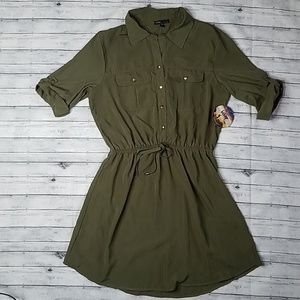 Bebop | olive utility dress